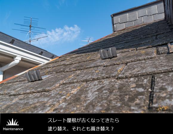 スレート屋根が古くなってきたら 塗り替え、それとも葺き替え?